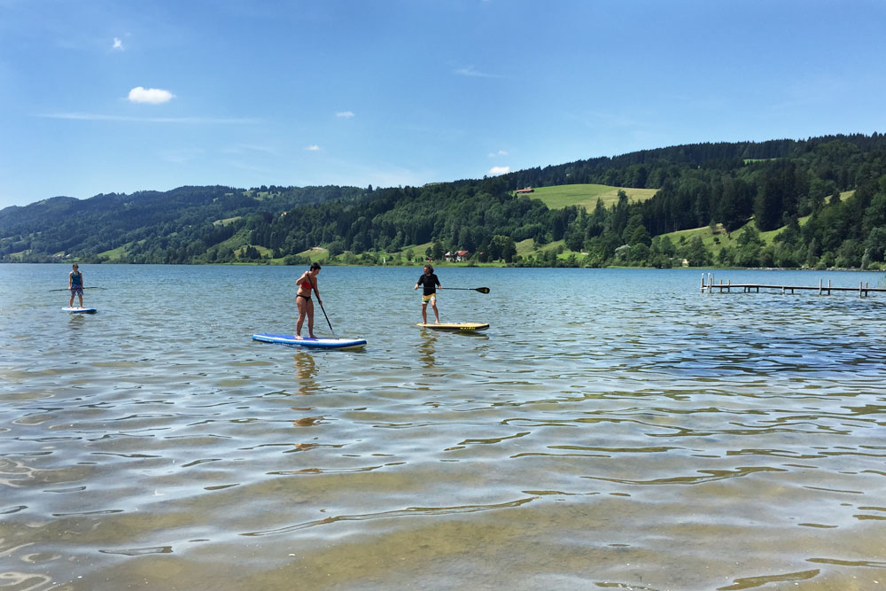 SUP am Alpsee